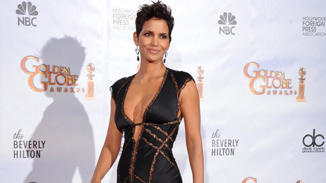 PHOTO: Actress Halle Berry poses in the press room at the 67th Annual Golden Globe Awards at The Beverly Hilton Hotel, Jan. 2010, in Beverly Hills. Her gown is designed by KAUFMANFRANCO.