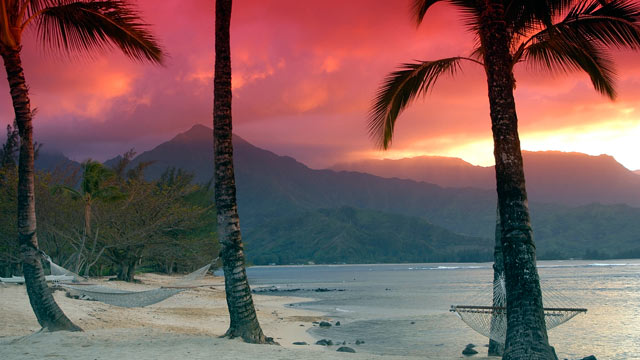 PHOTO: Kauai beach is shown at sunset, in this file photo.