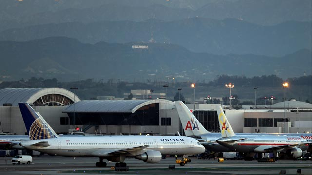 PHOTO: Planes sit on the tarmac at Los Angeles International Airport (LAX), Jan. 17, 2013, in Los Angeles, Calif.