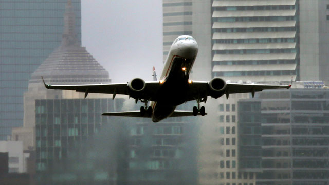 PHOTO: A jet takes off from Logan Airport in Boston, March 6, 2013.