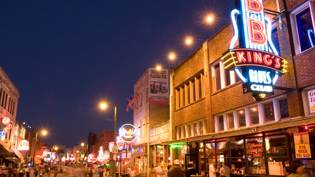 PHOTO: Beale Street In Memphis, Tennessee.