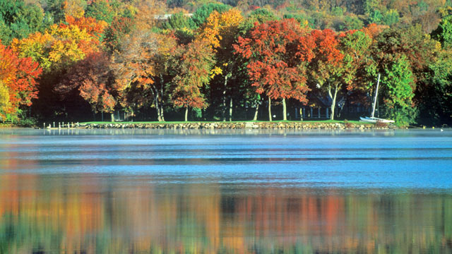 PHOTO: Lovell Lake, in Carroll County in eastern New Hampshire, is shown in this file photo.