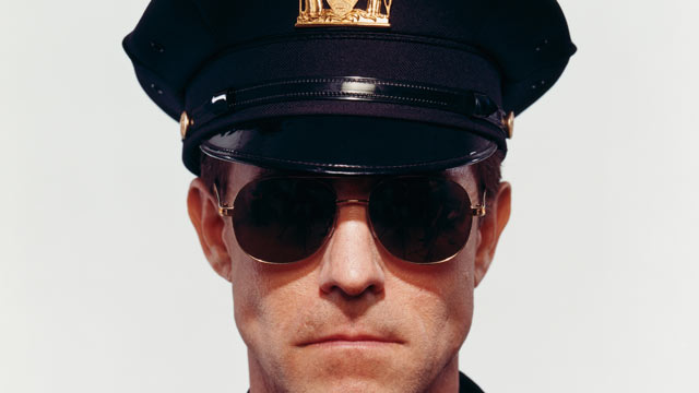 PHOTO: Police Officer in Sunglasses.