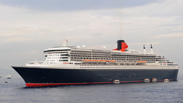 PHOTO: The Queen Mary 2 is seen during the International Monaco Yacht Show at Port Hercules, Sept. 24, 2010 in Monaco.
