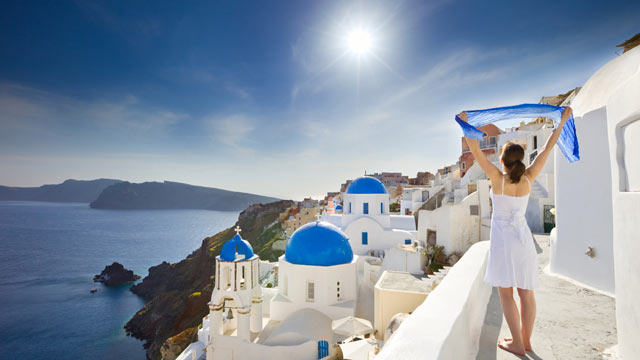PHOTO: A great place to travel is Santorini Island in Greece.