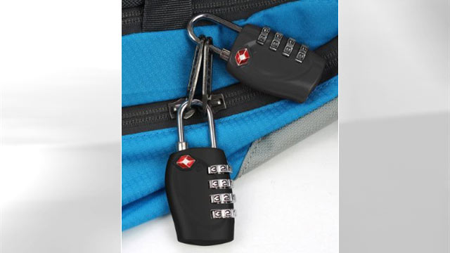 PHOTO:This four digital TSA accepted travel luggage lock is a great gadget for traveling.
