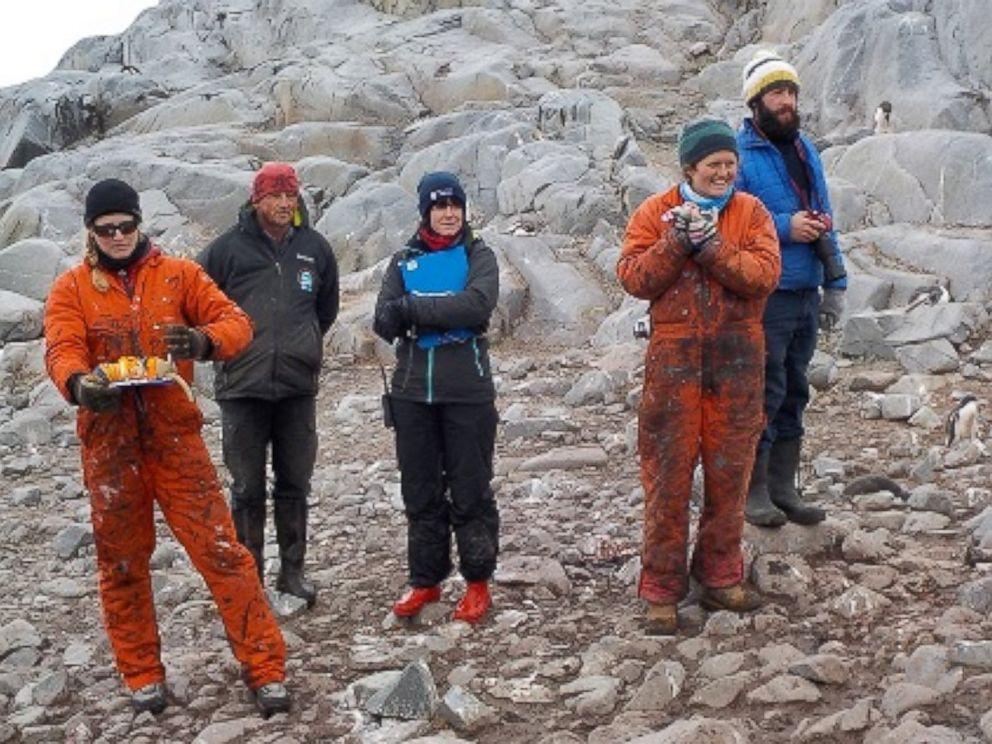 PHOTO: The current team preparing for a penguin count.