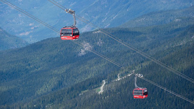 PHOTO: Whistler's PEAK 2 PEAK Gondola is the highest lift of its kind.