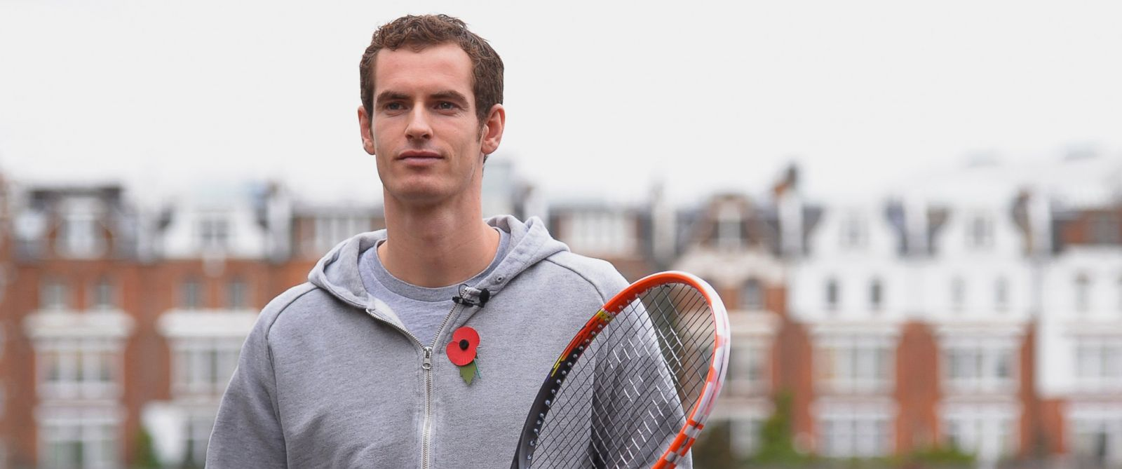 PHOTO: Andy Murray of Great Britain during the new Head Graphene Radical tennis racket launch at Queens Club on October 31, 2013 in London, England.