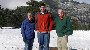 PHOTO This undated photo shows Brooks Anderson with his grandparents. Brooks Anderson was forced to stand on a Spirit Airlines flight because he was too tall to fit into the coach seats.
