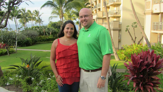 PHOTO: Jennifer Capella-Brown and Kevin Brown on their honeymoon in Hawaii in February of 2012, four months after their wedding.