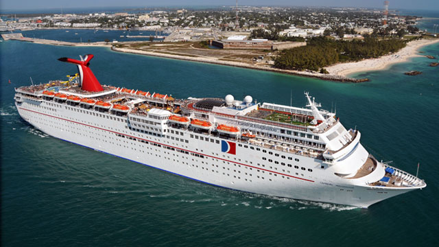 PHOTO: The Carnival Imagination departs Key West, Fla., enroute to Cozumel, Mexico.