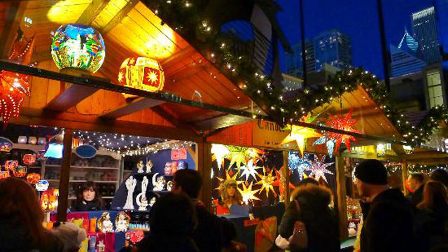 PHOTO:A German-style Christmas market is shown in Chicago.