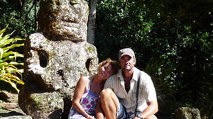 PHOTO Adventurers Catherine and Neville Hockley are spending May 2009 meeting the people of the Hiva Oa, an island in the Marquesas of French Polynesia.