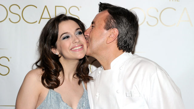 PHOTO: Chef Daniel Boulud and daughter Alix Boulud attend the 85th Academy Awards Official New York City Viewing Party on February 24, 2013 in New York City.