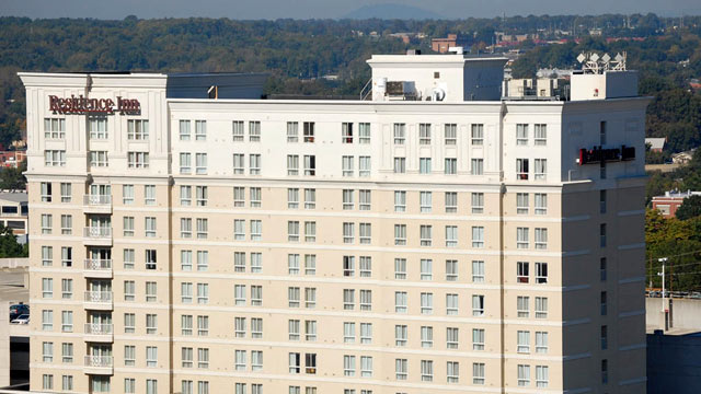 PHOTO: The Residence Inn Uptown is the home of delegates from Colorado during the 2012 Democratic National Convention in Charlotte, N.C.