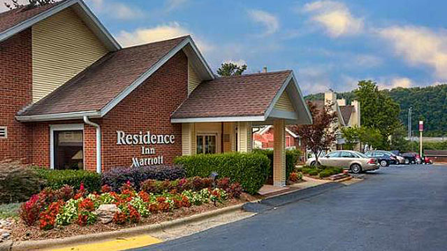 PHOTO: The Marriott Residence Inn Charlotte South on Tyvola Road is the home of delegates from Massachusetts during the 2012 Democratic National Convention in Charlotte, N.C.