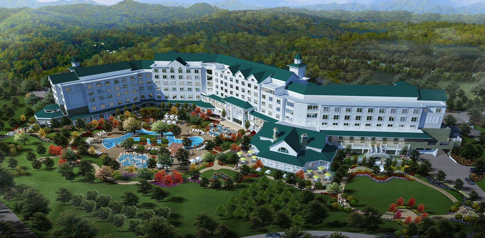 PHOTO: A rendering of part of the planned explansion of Dollywood, in Tennesee.