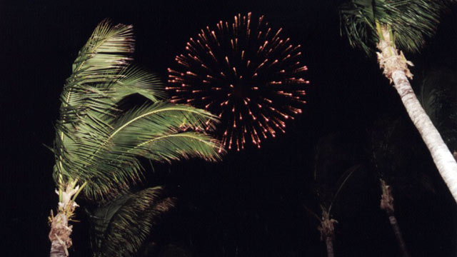 PHOTO: For those who don't like crowds, viewing fireworks from a boat is the way to go in the Keys.