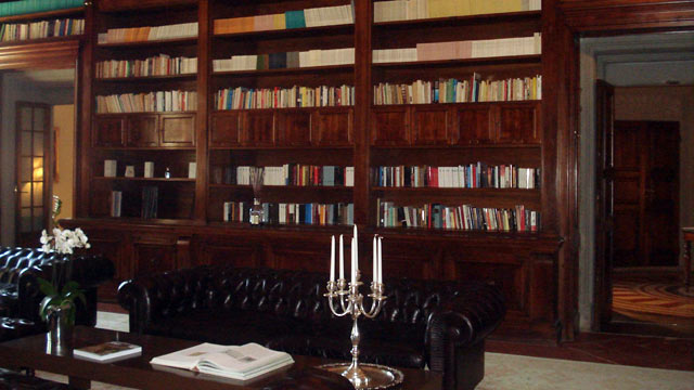 PHOTO: This Florence hotel has an exquisite library.