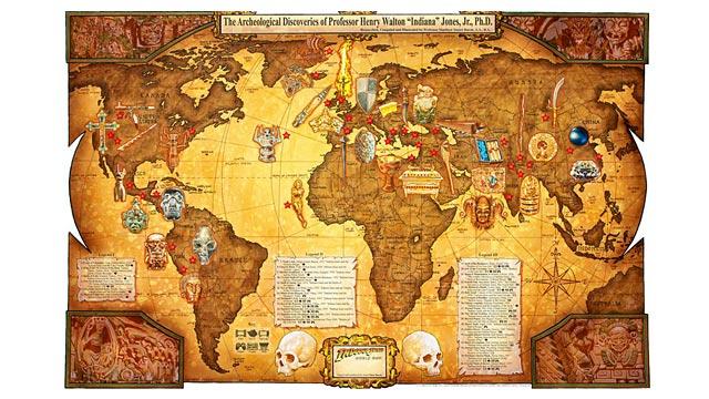 PHOTO:Photographer & artist Matt Buschs photos of his Indiana Jones World Map.