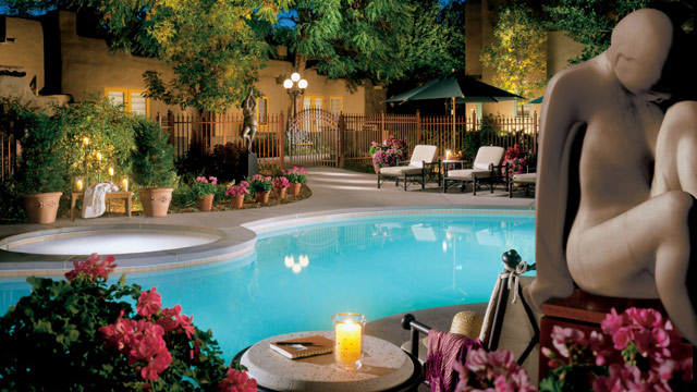 PHOTO: The pool at La Posada de Santa Fe in Santa Fe, New Mexico