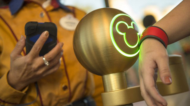 PHOTO: A new MagicBand is the key to unlocking the magic at Disney Parks. With one touch of their MagicBand, Guests can enter the parks and their resort room, access their Disney FastPass+ selections and PhotoPass and pay for merchandise and dining.