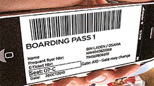 Osama Bin Laden boarding pass