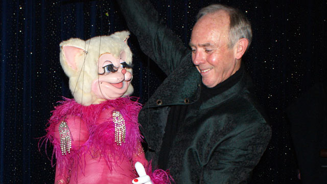PHOTO: Ray of Sunshine is a cruise director and puppeteer who has spent more than 40 years at sea.