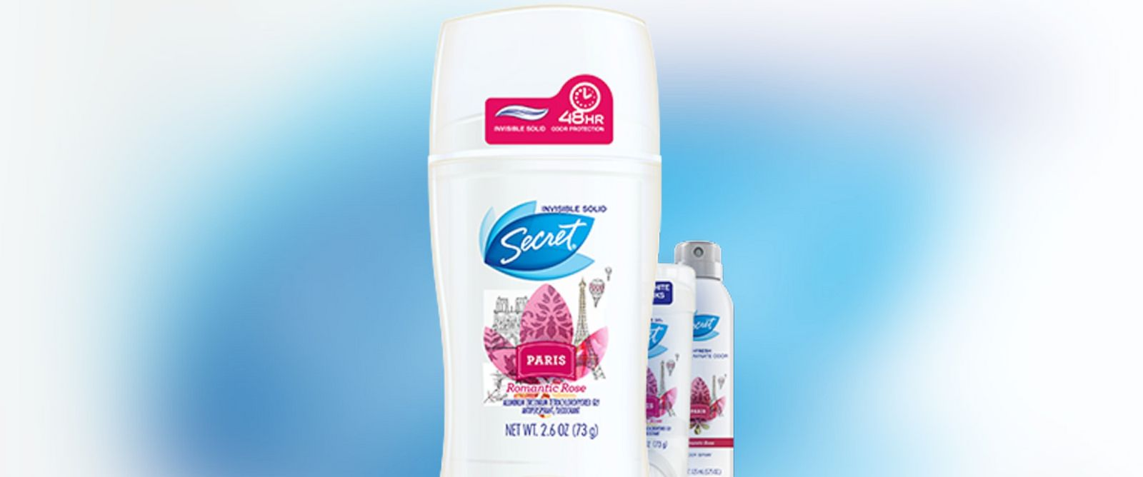 PHOTO: Pictured is Secrets Paris Romantic Rose deodorant.
