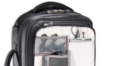 PHOTO: The Sparrow by luggage company ECBC lets travelers keep their laptop in their bag at security.