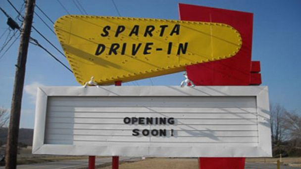 PHOTO: The Sparta Drive-In Theater in Sparta, Tennessee, is seen in this undated photo.
