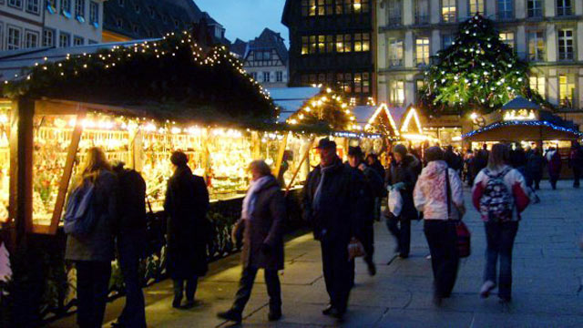 PHOTO:Strasbourg may be in France, but it's close to the German border, and you'll find a strong German influence in many local traditions...including the city's Christmas Market, the Christkindelsmarik.