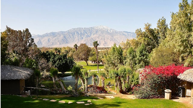 PHOTO: The view from the legendary Two Bunch Palms Resort and Spa, the very private oasis located just outside of Los Angeles.