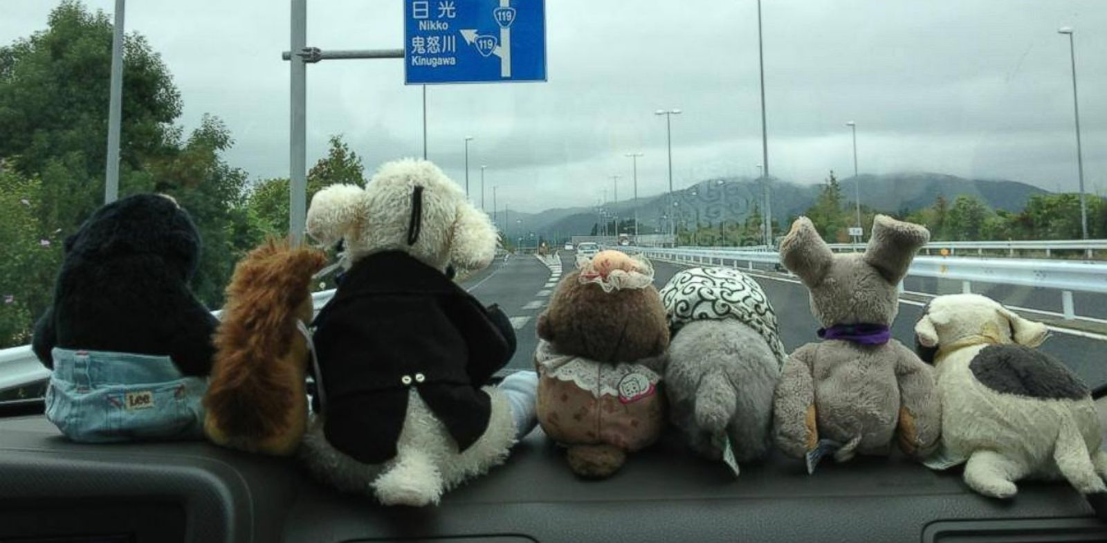 PHOTO: Unagi Travel is a Japanese travel agency that takes stuffed animals on trips when their owners are unable to leave home themselves.