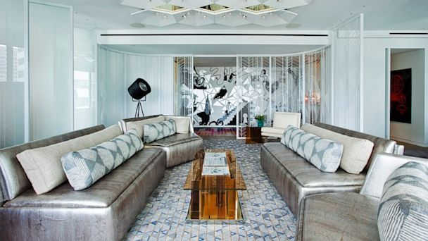 PHOTO: Always a hotel brand aligned with art, design, fashion and forward thinking, W Hotels kicked things up a notch with the debut of its latest Extreme WOW Suite. Of the many rich visual elements in the $2 million suite, the focal point for art connois