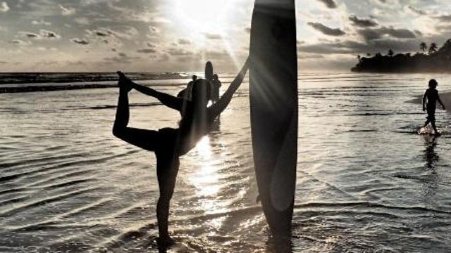 "PHOTO: With standup paddle-boarding (SUP) being so popular, it makes sense that ocean lovers would want to take their yoga onto the water. The width and stability of the boards makes them viable ""floating yoga mats,"" though just like working out on the BO"