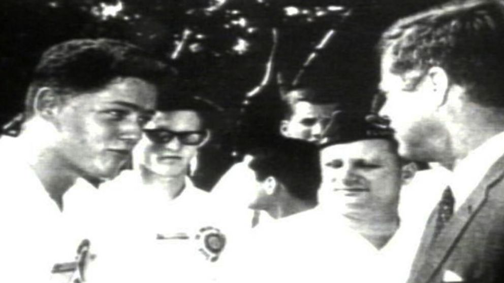 VIDEO: The day Bill Clinton Met JFK