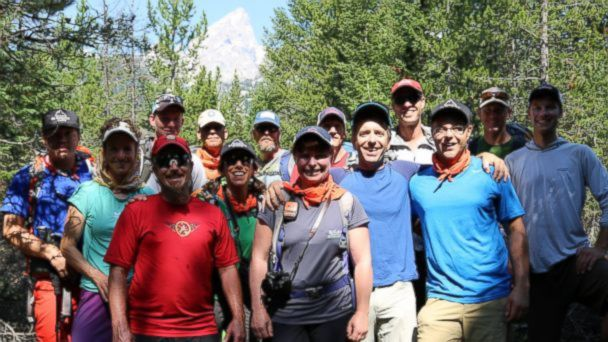 VIDEO: A group of disabled veterans climbed the 13,750 ft summit at the Grand Teton National Park.