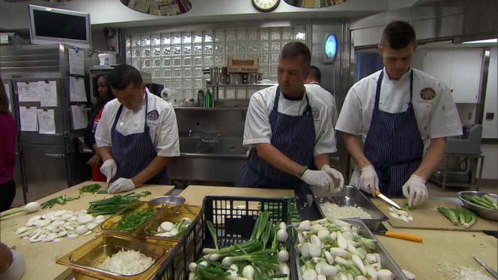 VIDEO: Chef Cris Comerford gives us a sneak peak at the menu and prep for the White House gala for African leaders.