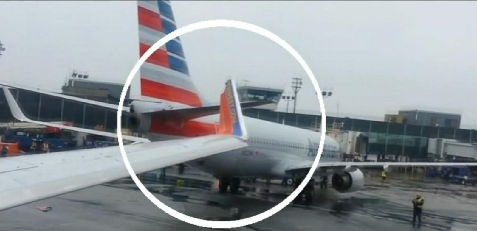 VIDEO: No injuries were reported from the two-plane collision at LaGuardia Airport.