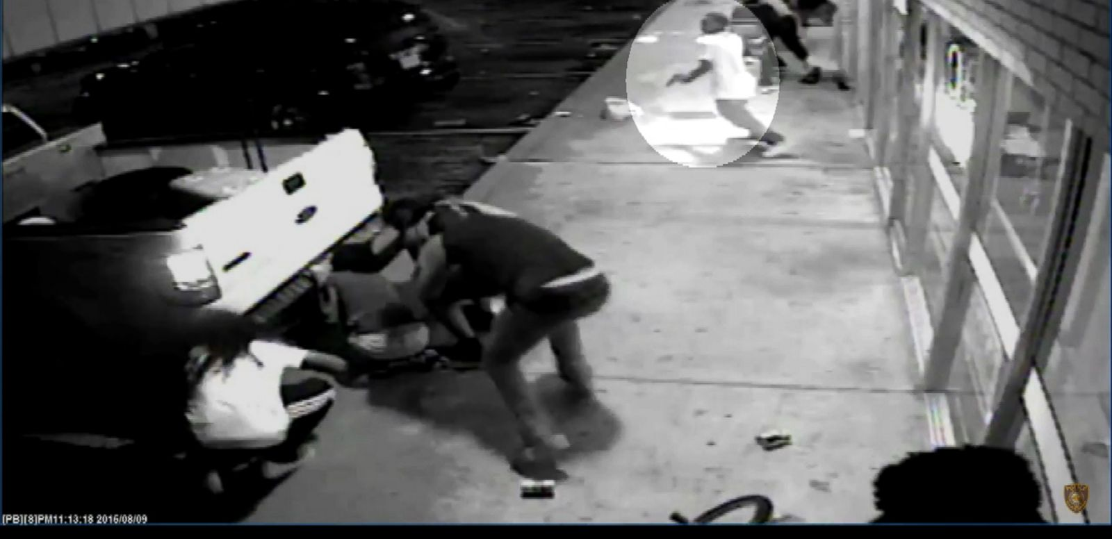 VIDEO: The St. Louis County Police Department released new surveillance video in the officer-involved shooting of Tyrone Harris on Aug. 9, 2015, which they say shows the 18-year-old grabbing a handgun out of his waistband.