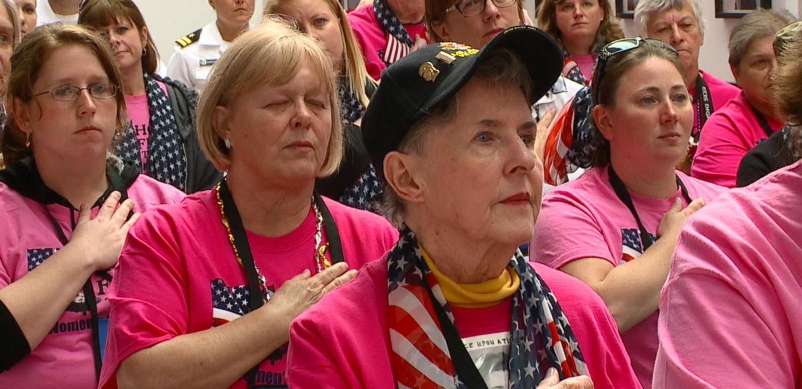 VIDEO: 140 Veterans Make History as First All-Female Honor Flight