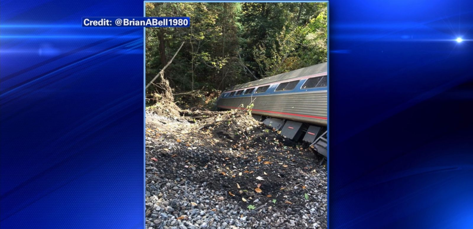 VIDEO: The train was traveling from Saint Albans, Vermont, to Washington, D.C., when it derailed after reportedly striking a rock slide on the tracks, Amtrak said.