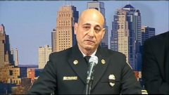VIDEO: Chief Paul Berardi praised veteran firefighters Larry J. Leggio and John V. Mesh for saving two civilians before the burning building collapsed around them.