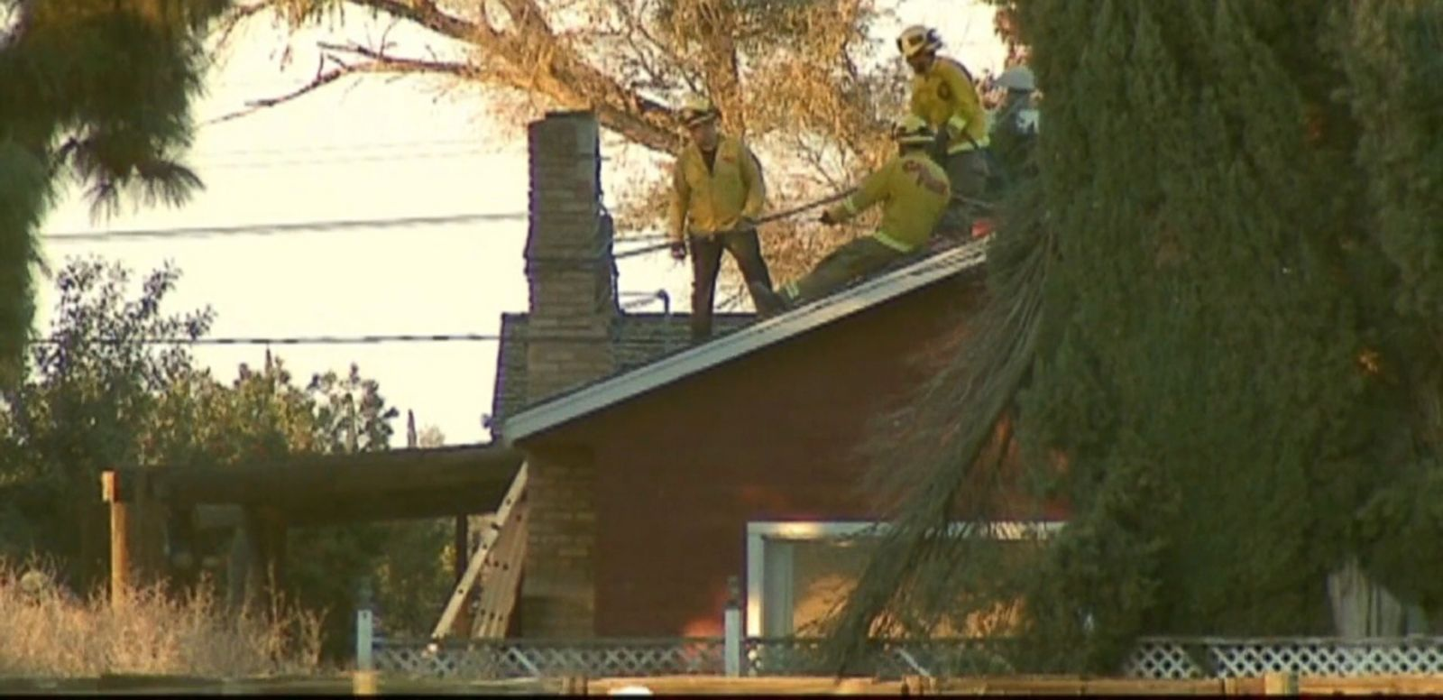 VIDEO: Police say the homeowner unknowingly used his fireplace while Cody Caldwell was stuck in the chimney.
