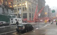 VIDEO: At least one fatality has been confirmed after a construction crane fell in downtown Manhattan this morning.