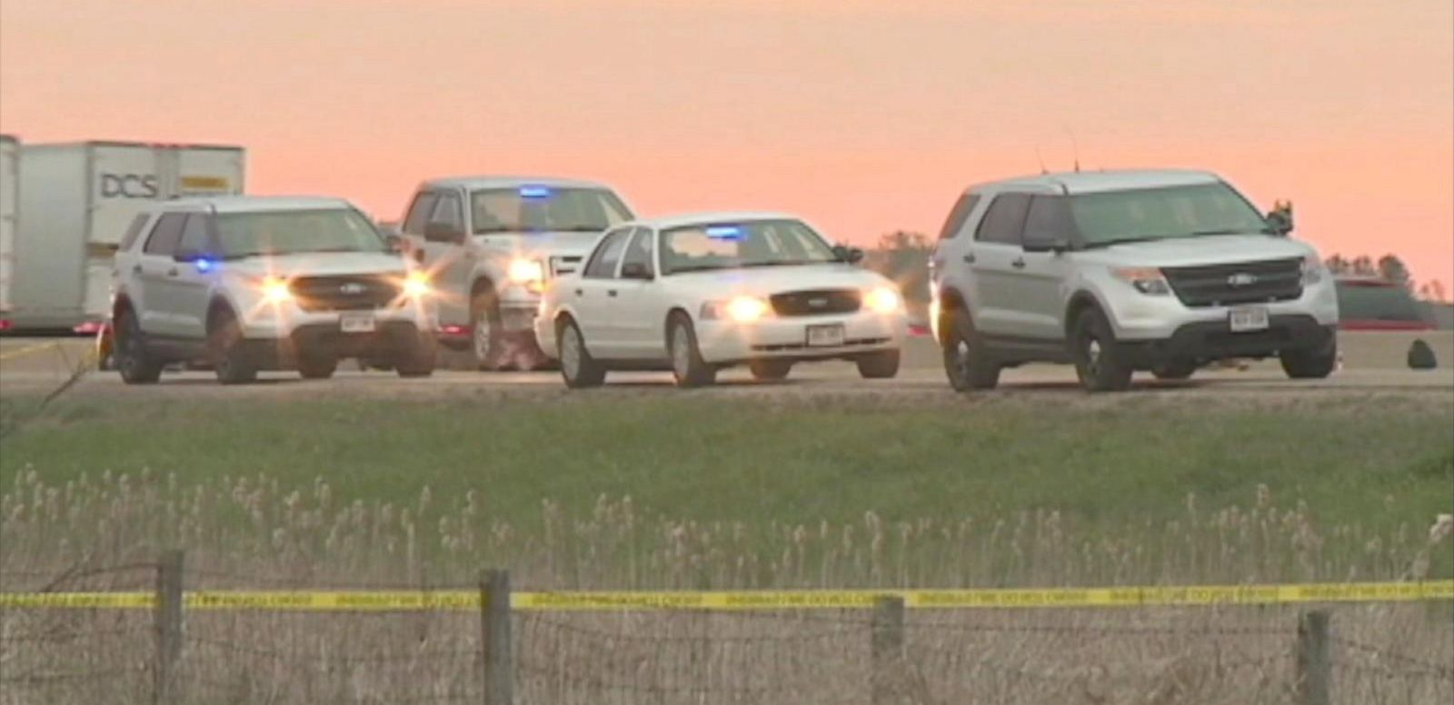 "VIDEO: Police say the shooting on Interstate 90/94 in Wisconsin was a ""random act"" and that the alleged gunman is in custody."