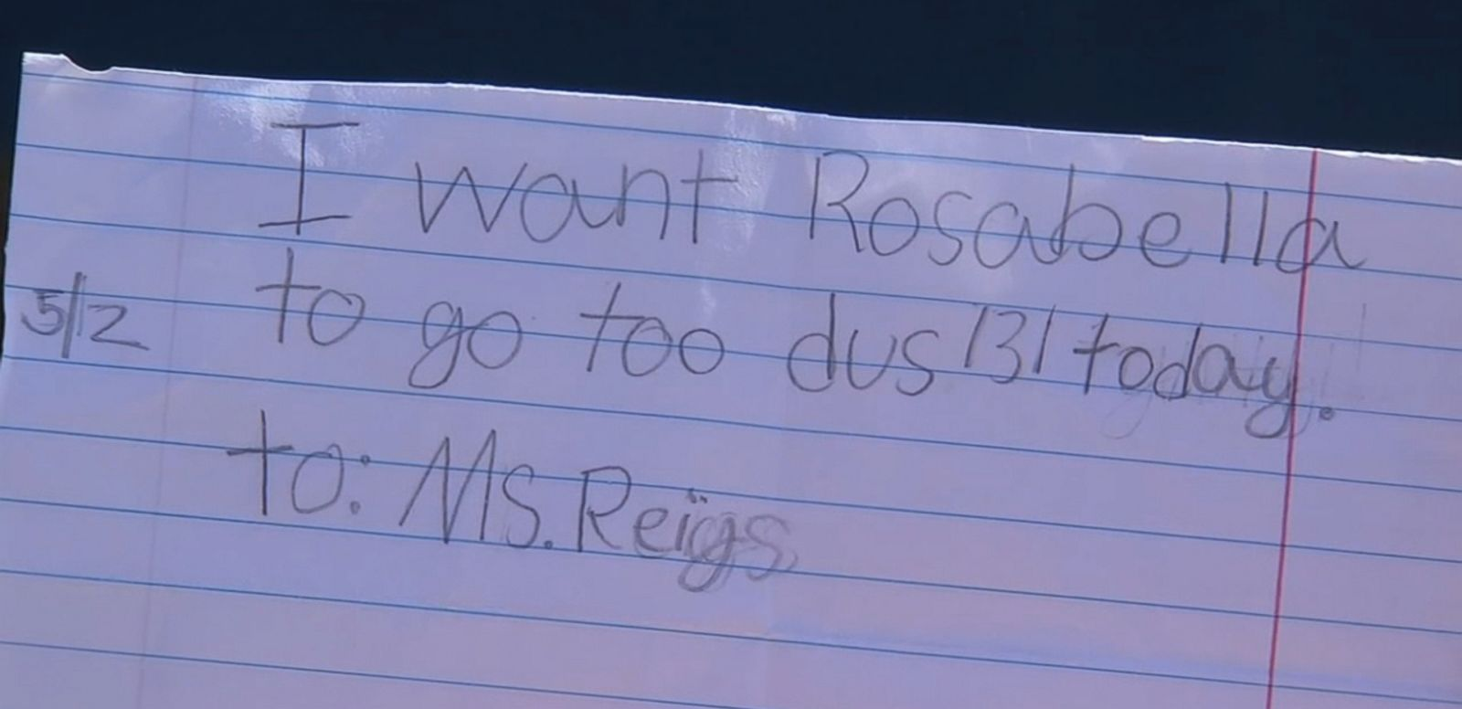 VIDEO: The second-grader's fake excuse note came with misspellings, but was accepted by school staff.