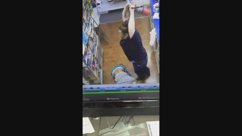 Gas Station Manager Fights Off Alleged Robber With Fire Extinguisher, Video Shows